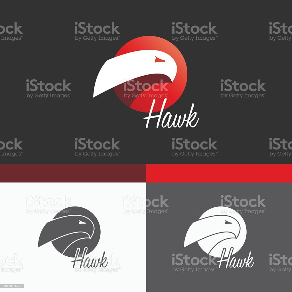 Hawk Symbol Template. Vector Elements. Brand Icon Design Illustration vector art illustration
