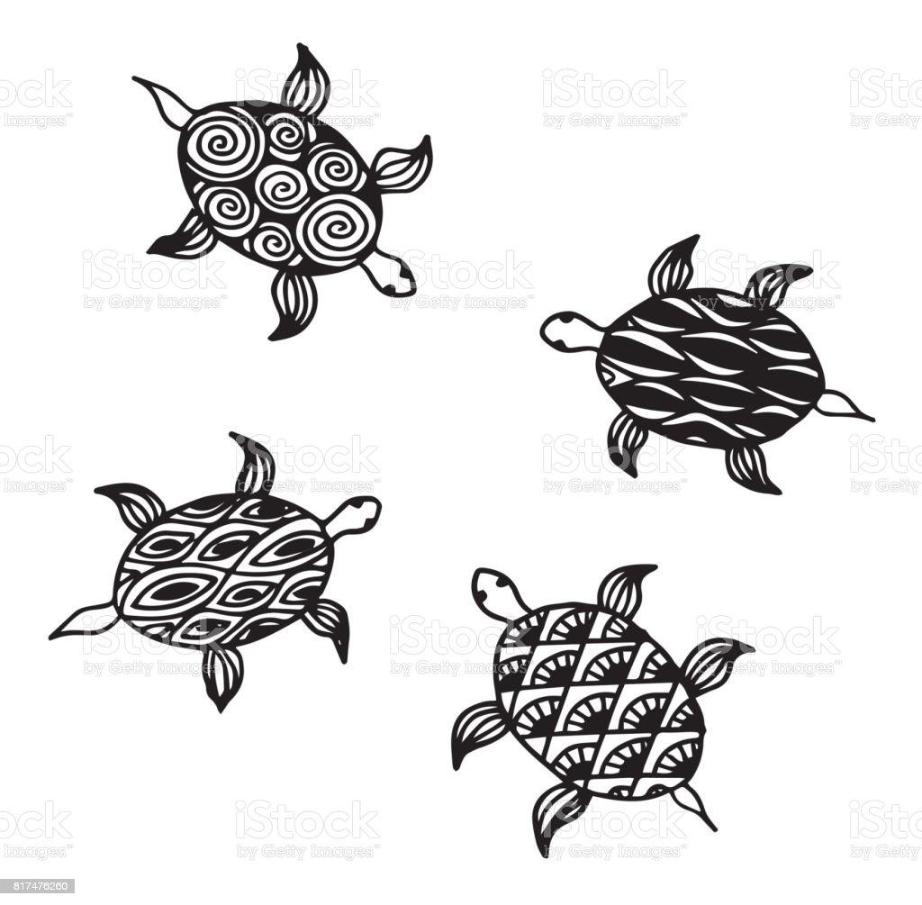Ilustración de Colección De Tortugas Marinas De Carey Ilustración ...
