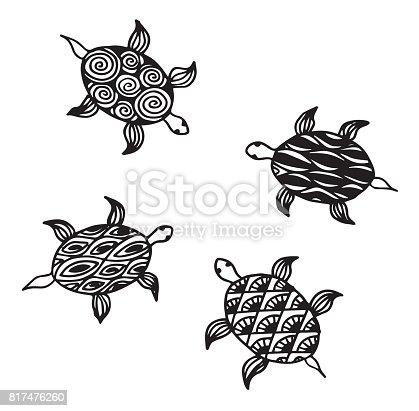 istock Ilustración de una morena en estilo enredados patrones ...