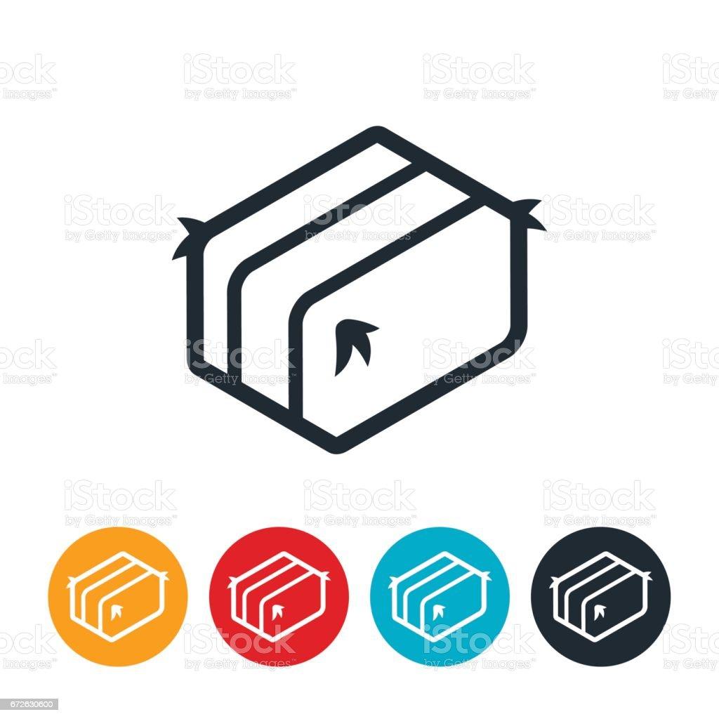 Hay Bale Icon vector art illustration