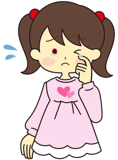 花粉症の女の子 - くしゃみ 日本人点のイラスト素材/クリップアート素材/マンガ素材/アイコン素材
