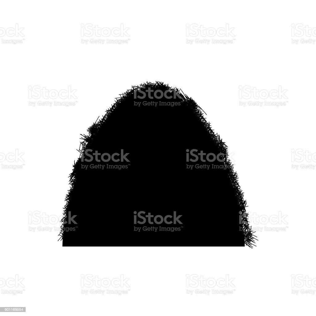 haystack icon, vector art illustration