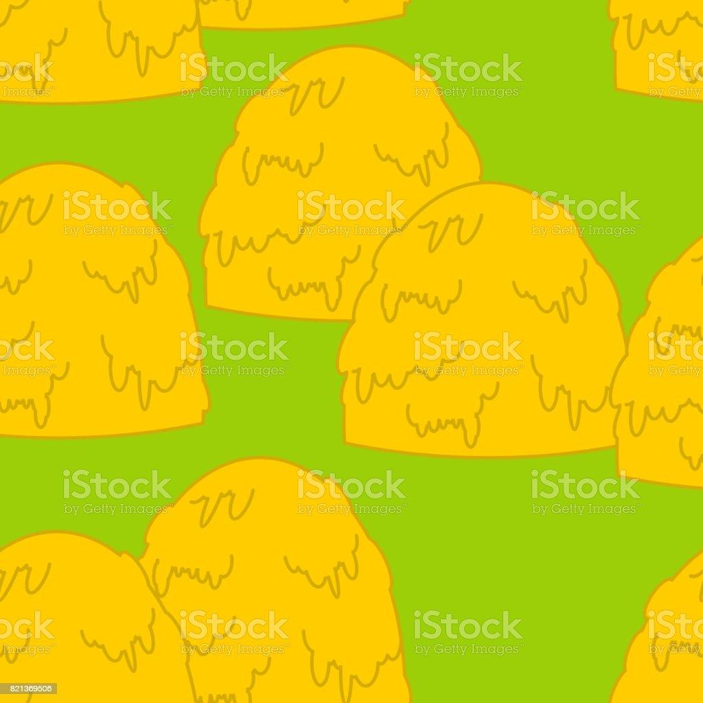 Haystack pattern. Hay stack background. Arable land texture. agricultural ornament vector art illustration