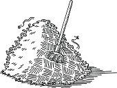 Haystack Pitchfork Drawing