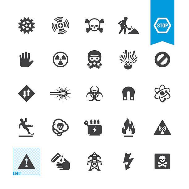 векторные знаки опасности и предупреждения - lightning stock illustrations