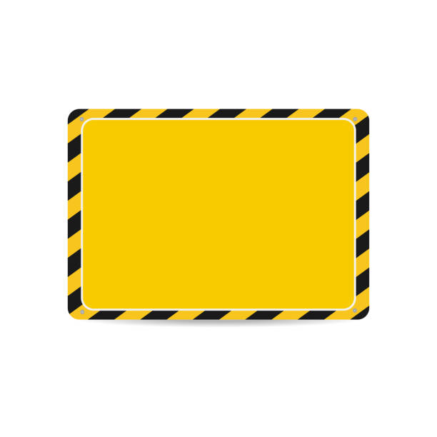 Hazard frame. Caution frame with black and yellow stripes Hazard frame. Caution frame with black and yellow stripes. Vector road warning sign stock illustrations