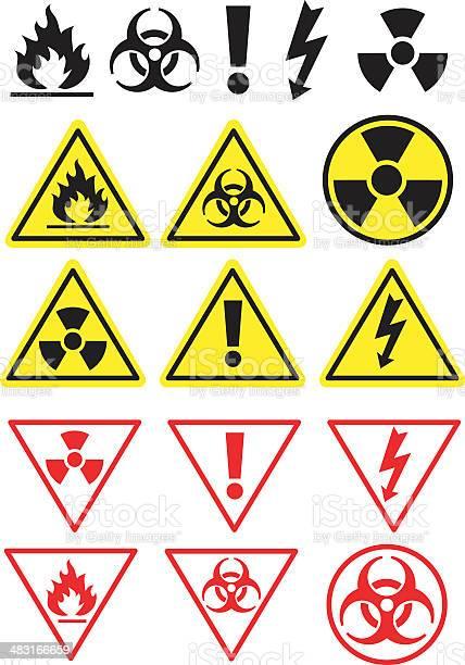 Hazard Icons And Symbols Stockvectorkunst en meer beelden van Arbeidsveiligheid