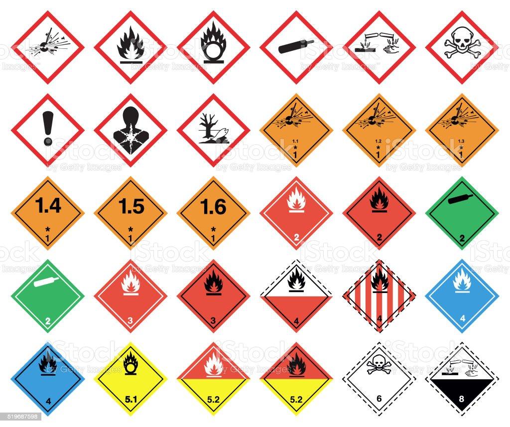 GHS hazard pictograms - Royalty-free Aardgas vectorkunst