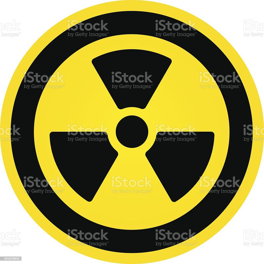 Hazard Radioactivity Sign vector art illustration