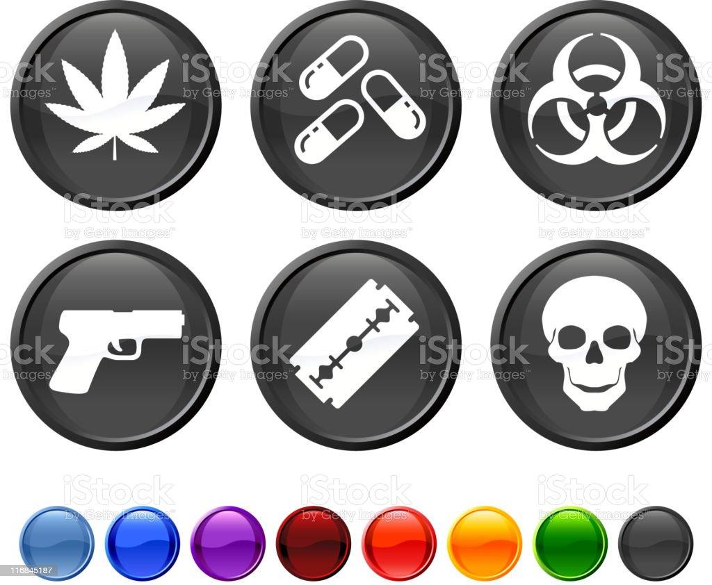 hazard royalty free vector icon set royalty-free stock vector art