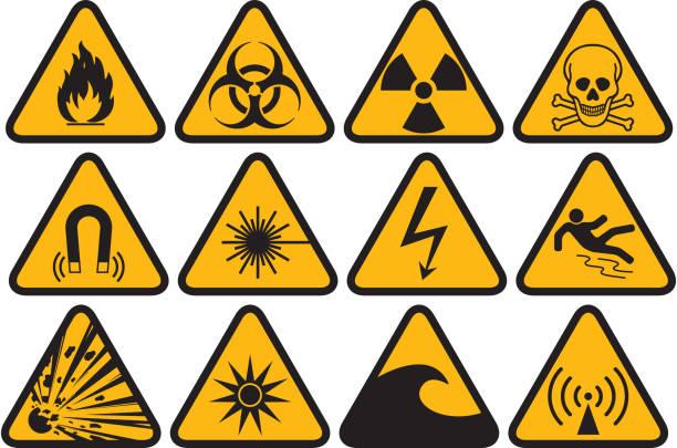 ilustrações de stock, clip art, desenhos animados e ícones de símbolo de perigo - inflamável