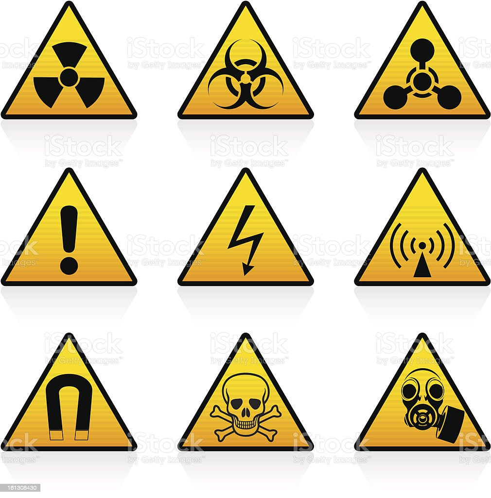 Hazard Symbols Stock Vector Art More Images Of Biohazard Symbol