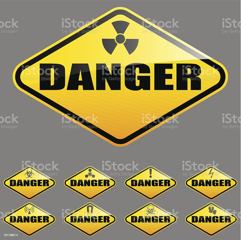 against diamond sky road danger on traffic blue sunny stock sign photo orange