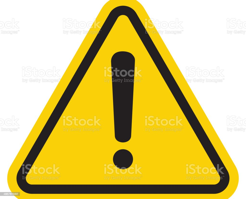 Hazard warning attention sign vector art illustration