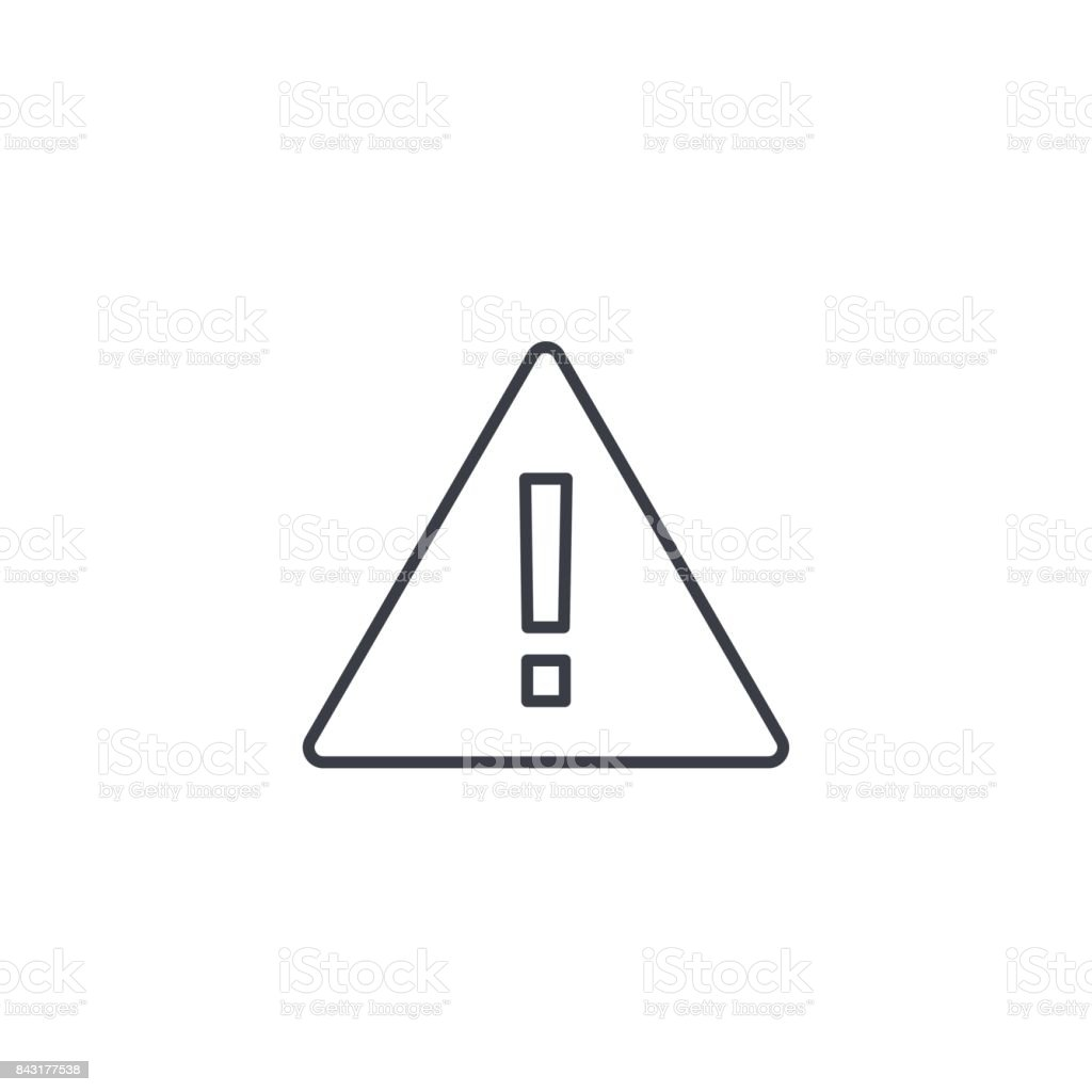 Hazard, warning, attention thin line icon. Linear vector symbol royalty-free hazard warning attention thin line icon linear vector symbol stock illustration - download image now
