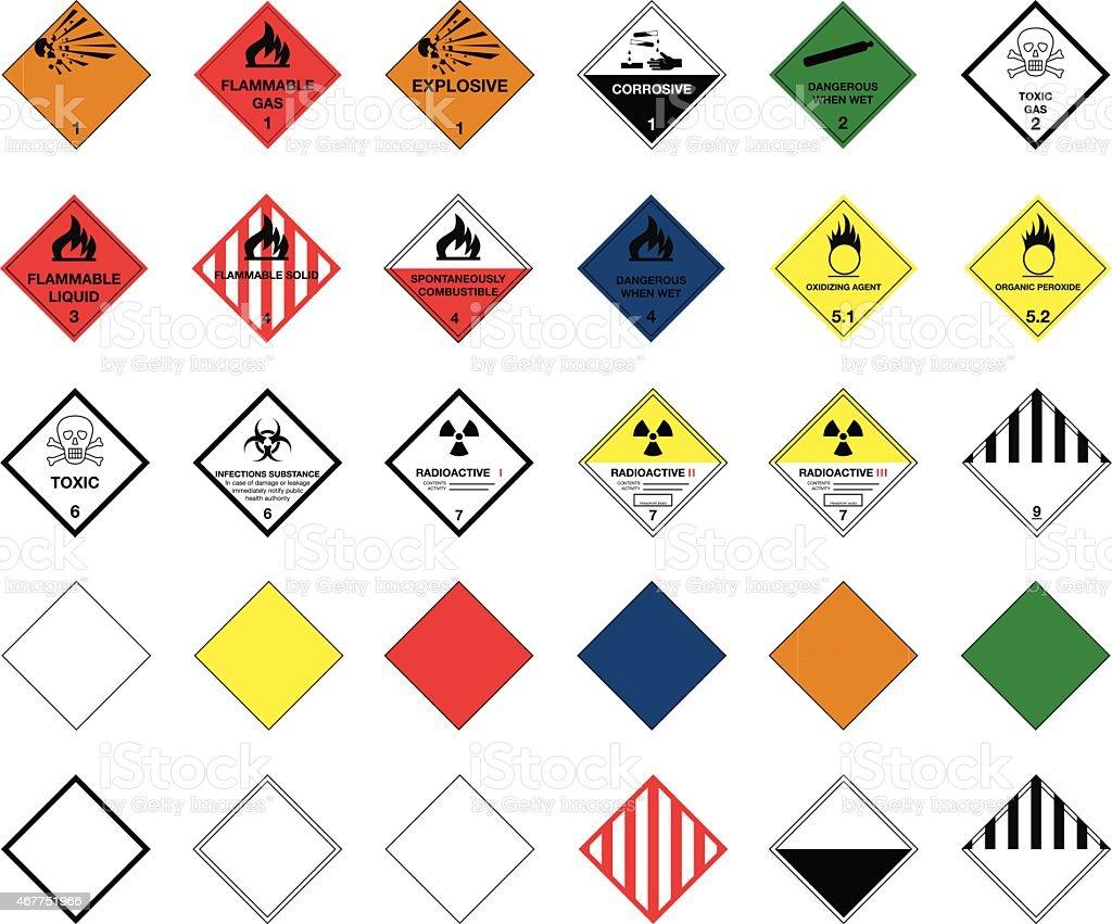 Hazard Warning Diamond Symbols vector art illustration