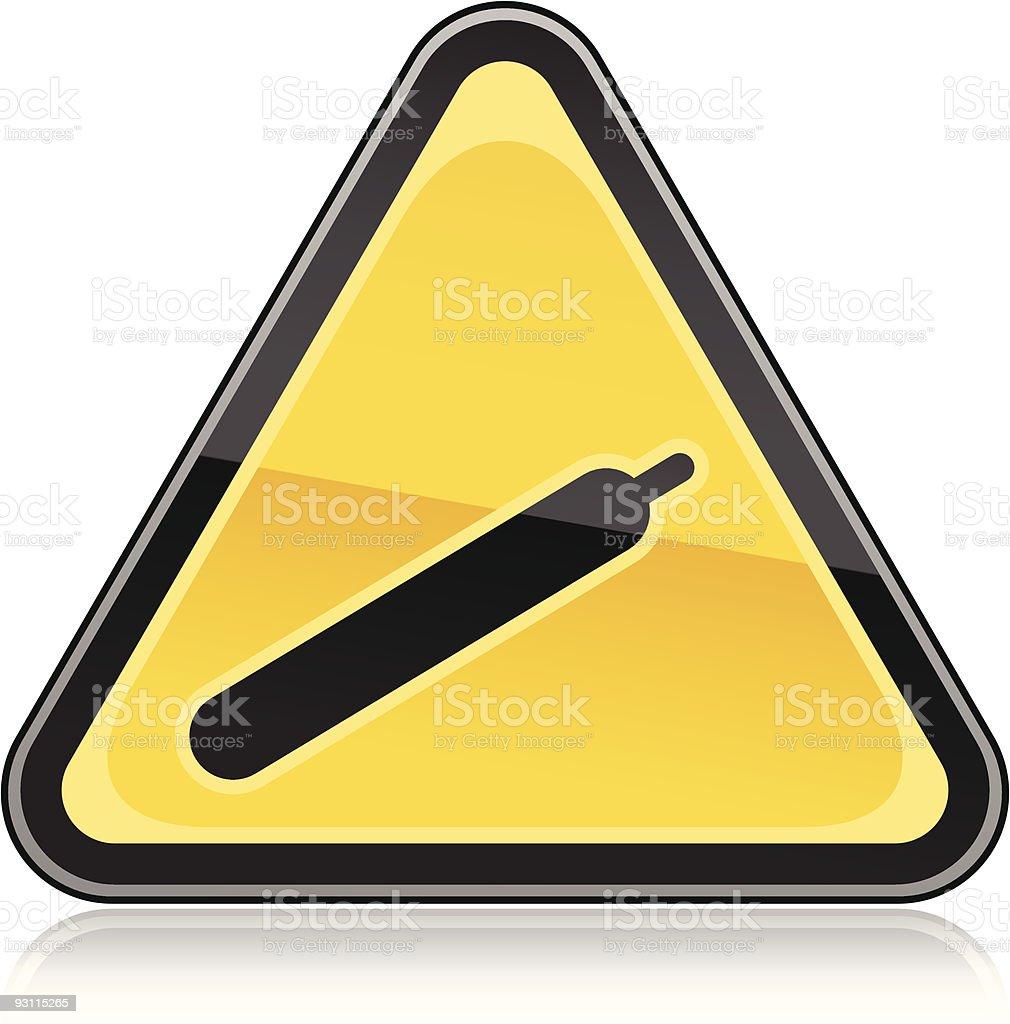 Hazard warning sign gas vector art illustration