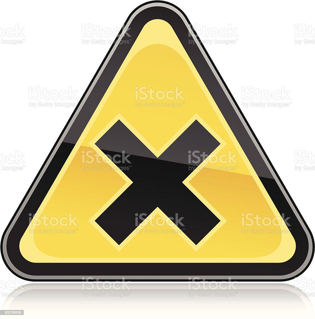 Hazard warning sign irritant royalty-free hazard warning sign irritant stock vector art & more images of alertness