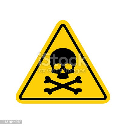 Hazard warning symbol vector icon flat sign symbol with exclamation mark isolated on white background .