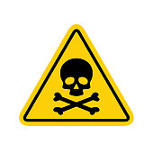 istock Hazard warning symbol vector icon flat sign symbol with exclamation mark isolated on white background 1131944972