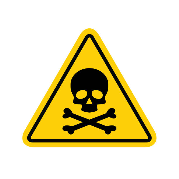 Hazard warning symbol vector icon flat sign symbol with exclamation mark isolated on white background Hazard warning symbol vector icon flat sign symbol with exclamation mark isolated on white background . hazardous chemicals stock illustrations
