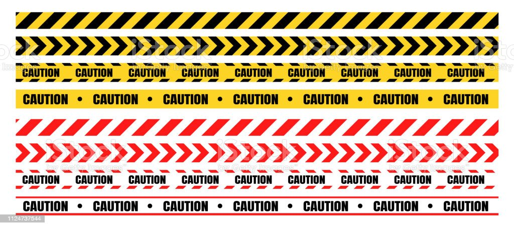 Hazardous warning tape sets must be careful for construction and crime. - Royalty-free Acessibilidade arte vetorial