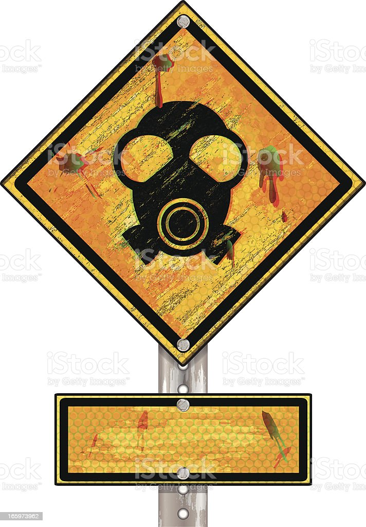 Hazardous Waste | Mask Sign Grunge royalty-free hazardous waste mask sign grunge stock vector art & more images of accidents and disasters