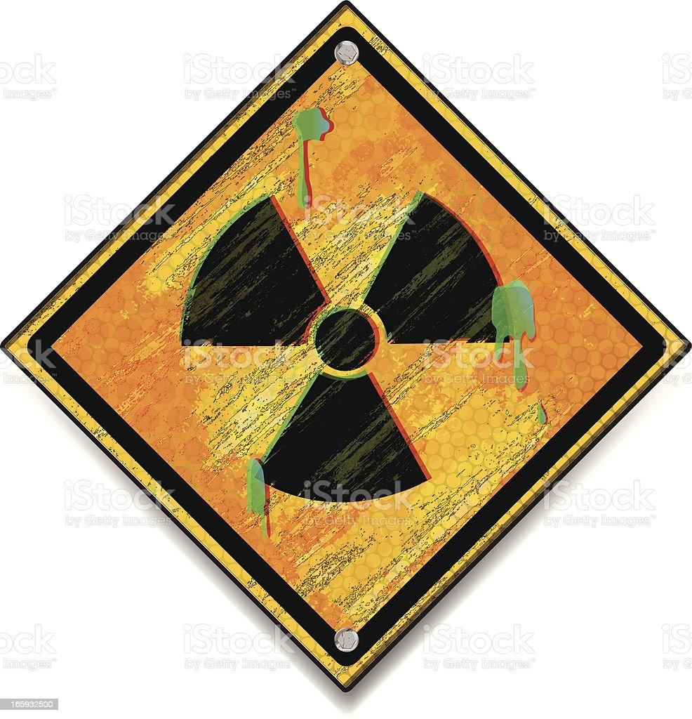 Hazardous Waste Sign Grunge royalty-free stock vector art
