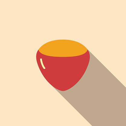 hazelnut food and drink flat icon series