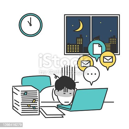 istock He is exhausted from overworked 1266416279
