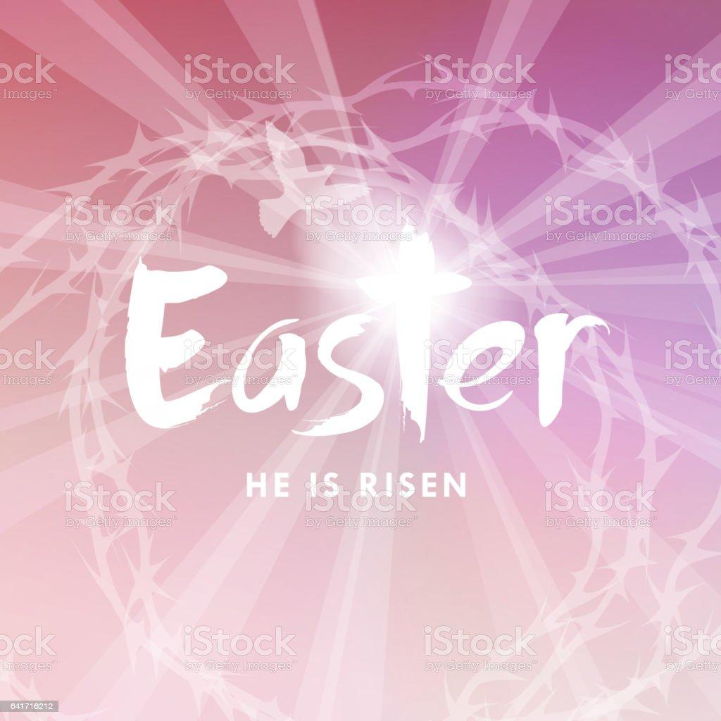 He is Risen Resurrection vector art illustration