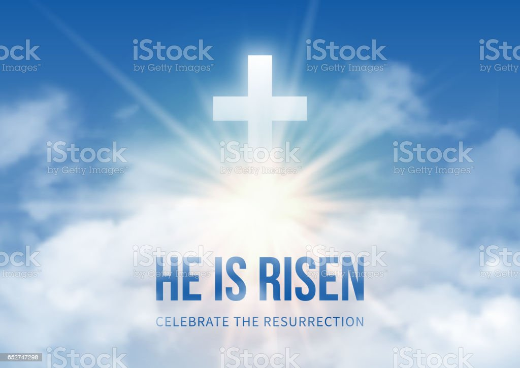 He Is Risen Stock Illustration - Download Image Now - iStock