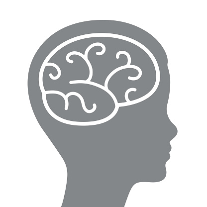 Head And Brain Silhouette Stock Illustration - Download