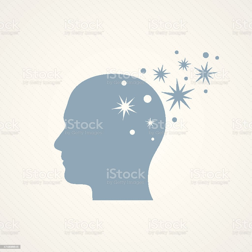 Head and memory vector art illustration