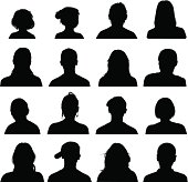 Collection of 16 high detailed head and shoulders silhouettes. Pdf and 6000 x 6000 jpg files included.