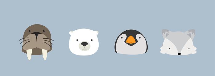 Head animals Cartoon characters Arctic