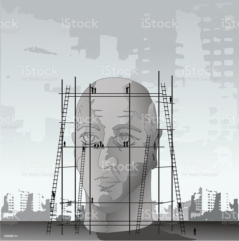 head building royalty-free stock vector art
