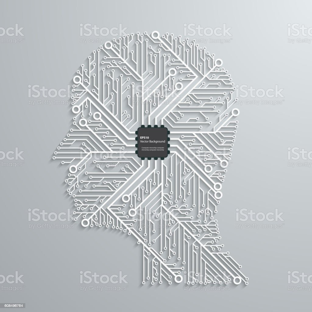 head computing technology in an electronic circuit chip design rh istockphoto com