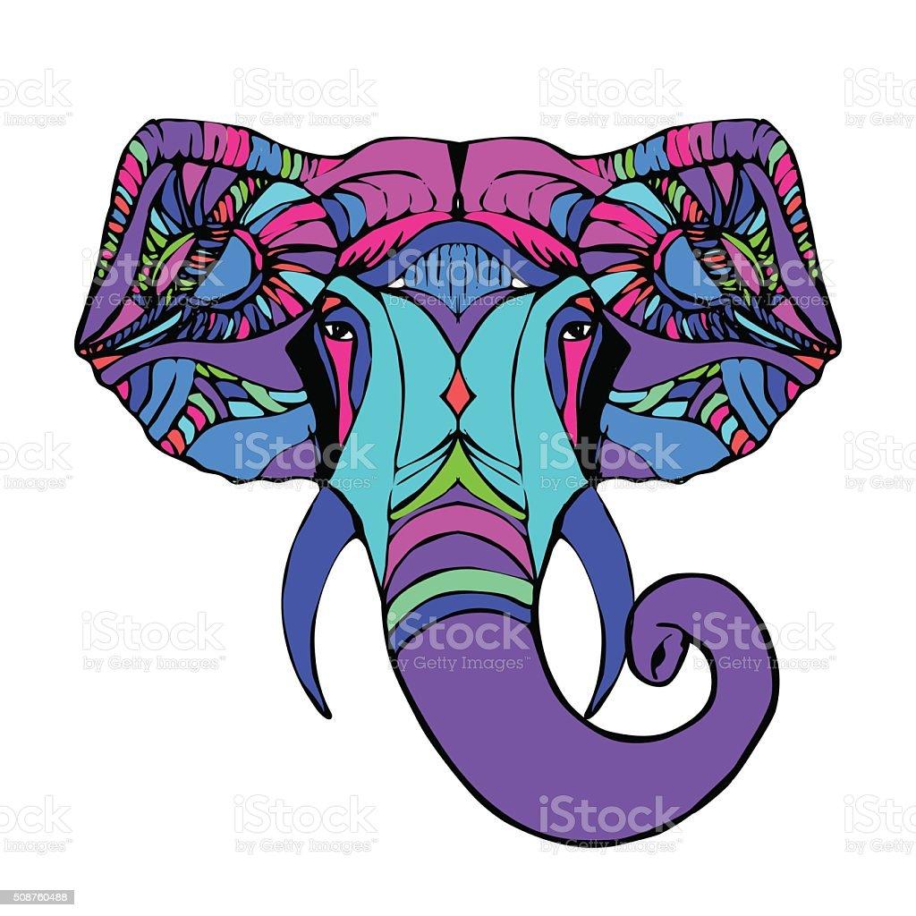 87df0ccd87095 Cabeza Ganesha ilustración de cabeza ganesha y más vectores libres de  derechos de animal libre de