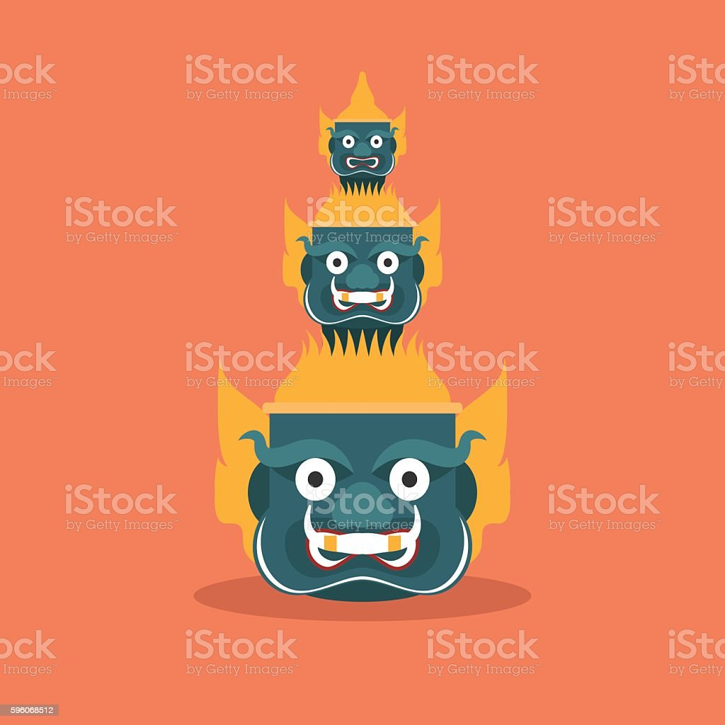 head giant of  Thailand , vector royalty-free head giant of thailand vector stock vector art & more images of asia