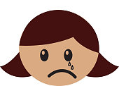 head girl crying expression