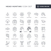 29 Head Hunting Icons - Editable Stroke - Easy to edit and customize - You can easily customize the stroke with
