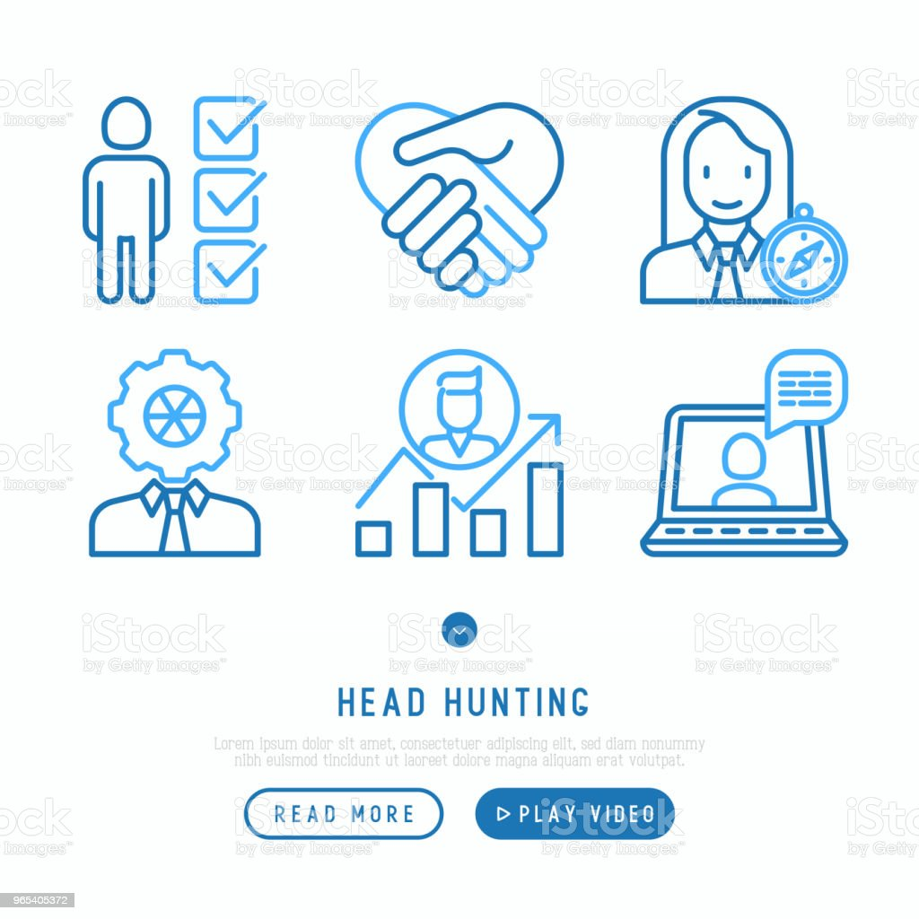 Head hunting thin line icons set: employee, hr manager, focus, resume; briefcase; achievements; career growth, interview. Vector illustration. head hunting thin line icons set employee hr manager focus resume briefcase achievements career growth interview vector illustration - stockowe grafiki wektorowe i więcej obrazów aktówka royalty-free