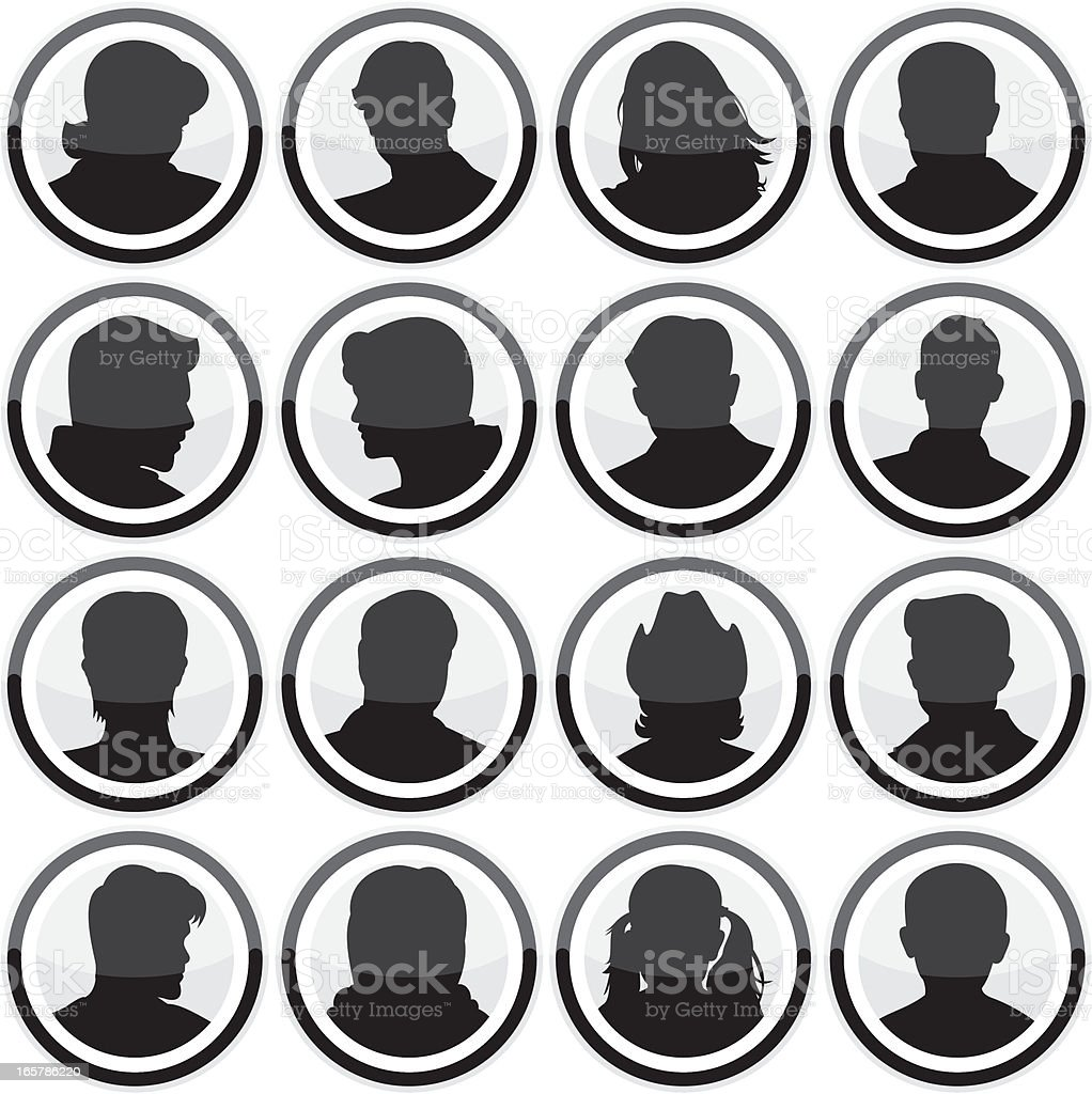 Head Icons royalty-free head icons stock vector art & more images of adult