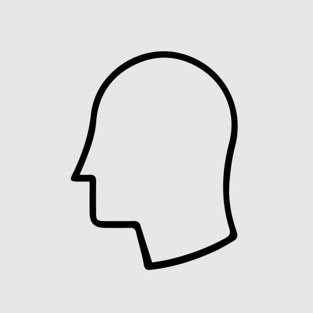 ilustrações, clipart, desenhos animados e ícones de vá no ícone do vetor de perfil - cabeça