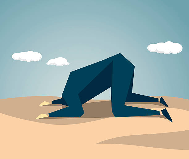 La tête dans le sable - Illustration vectorielle
