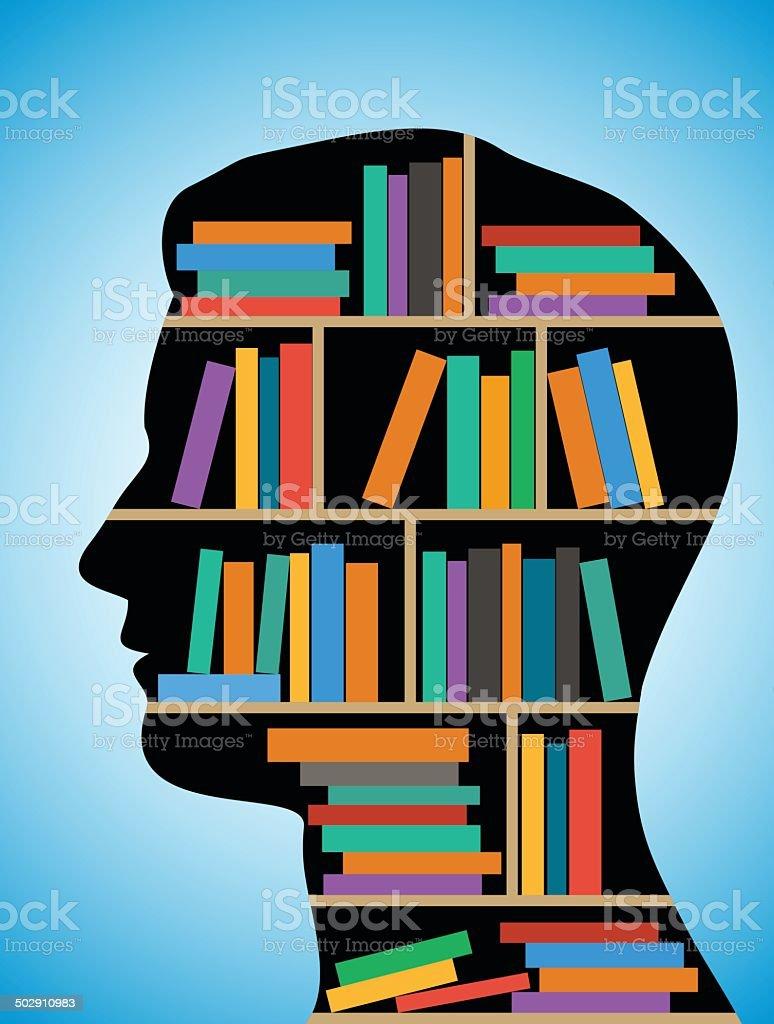 Head Library vector art illustration