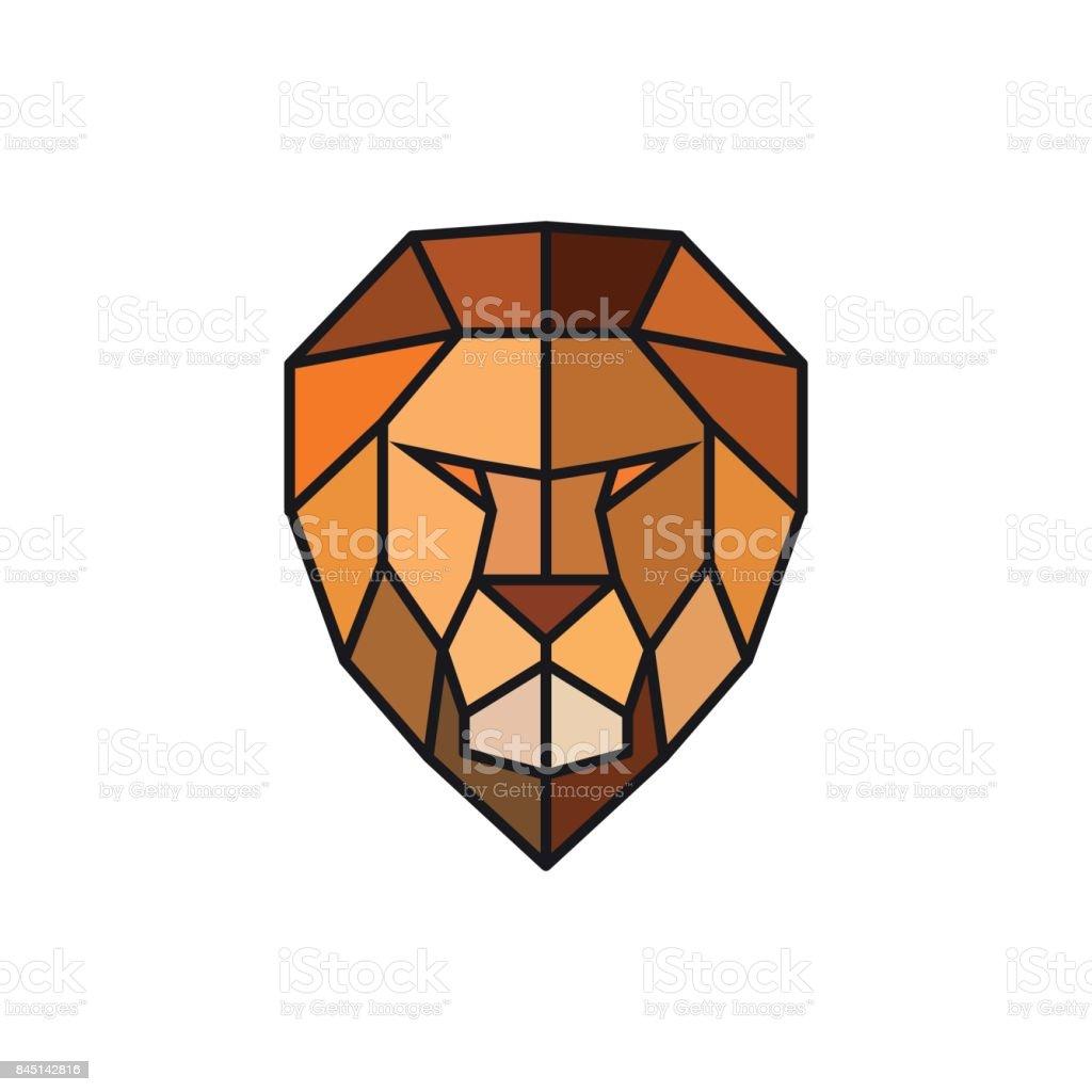 ライオンの頭ビジネスのロゴのテンプレートです抽象的な頭カラフルな多
