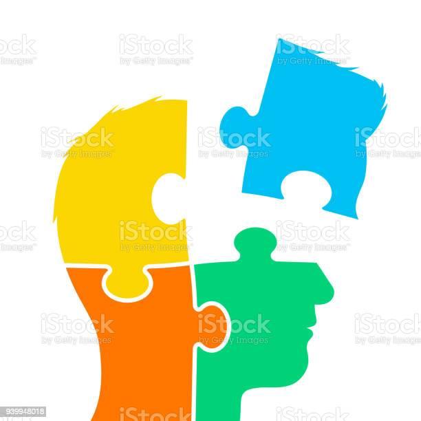 Head of a man made of four jigsaw puzzle pieces vector id939948018?b=1&k=6&m=939948018&s=612x612&h=fadaki3ae 0h0nj6tixejjoxysqgkxhi84x9or3d2x4=