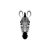Head of a zebra.